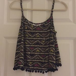 BCBGeneration Tank with Pom Pom Balls Size Medium